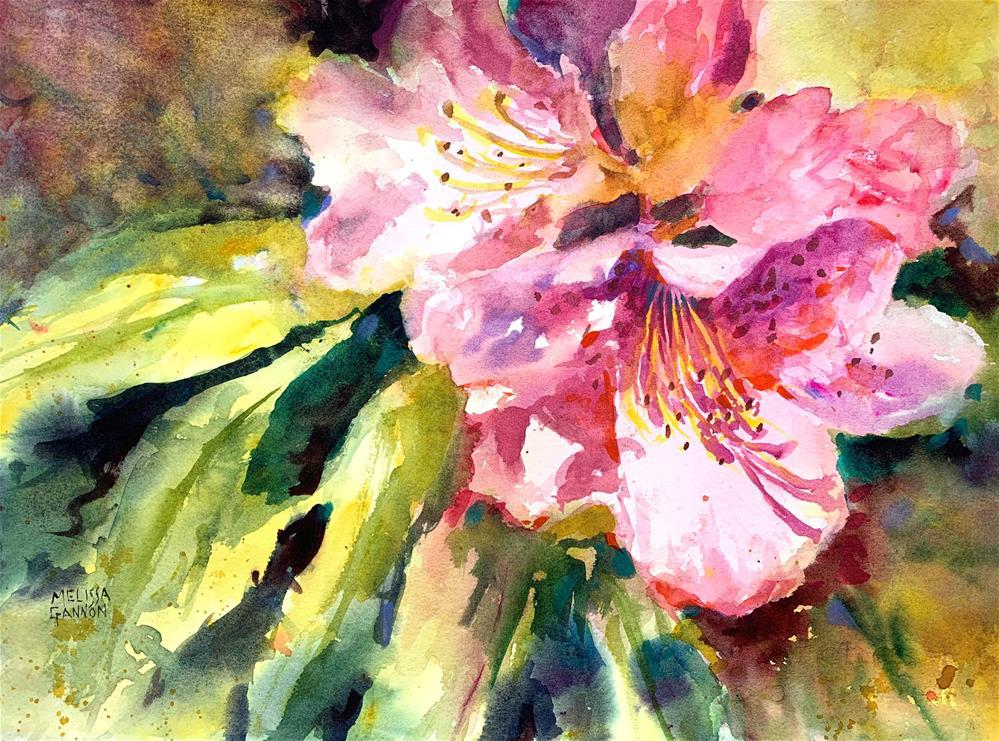 """Rhododendron of Spring"" original fine art by Melissa Gannon"