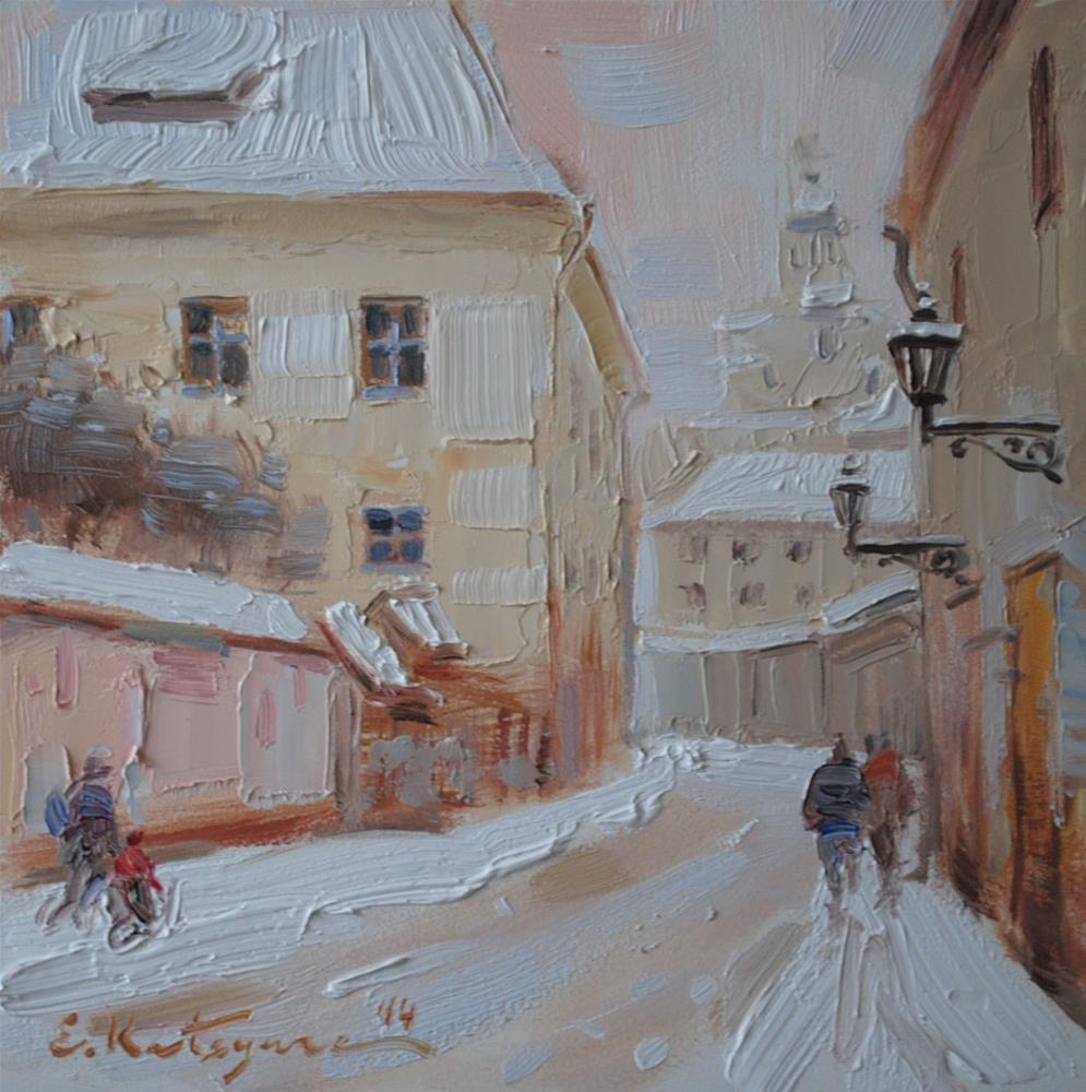 """After Frost"" original fine art by Elena Katsyura"