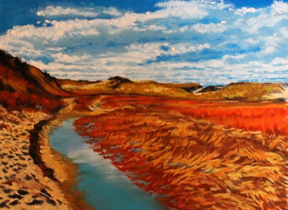 """November on the Great Island Trail"" original fine art by Jill Bates"