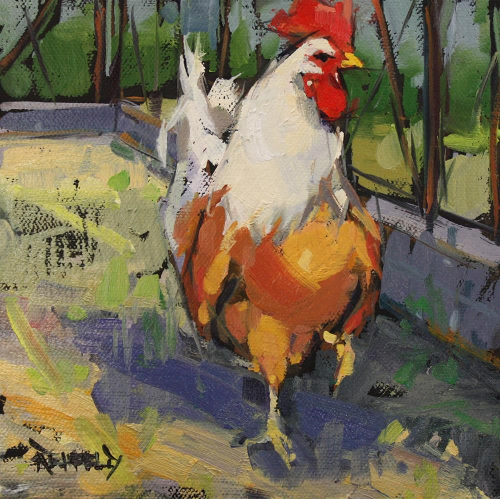 """Barnyard King"" original fine art by Cathleen Rehfeld"