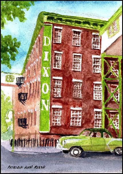 """""""Joseph Dixon Crucible"""" original fine art by Patricia Ann Rizzo"""