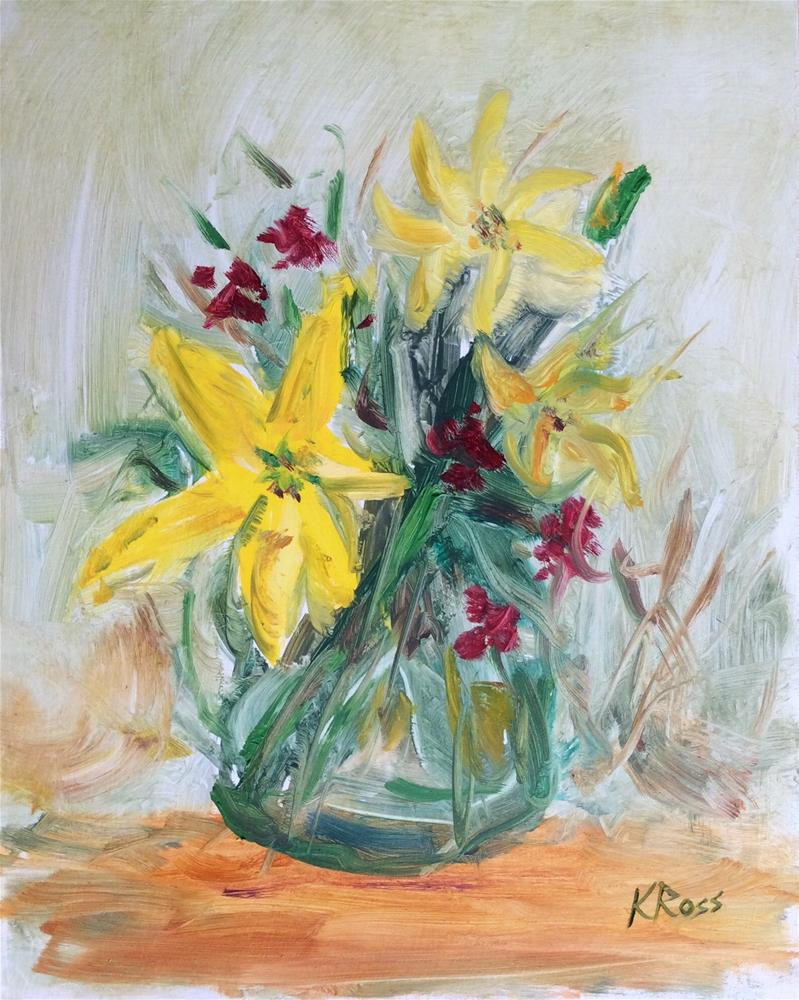 """Spring Bouquet"" original fine art by Kathryn Ross"