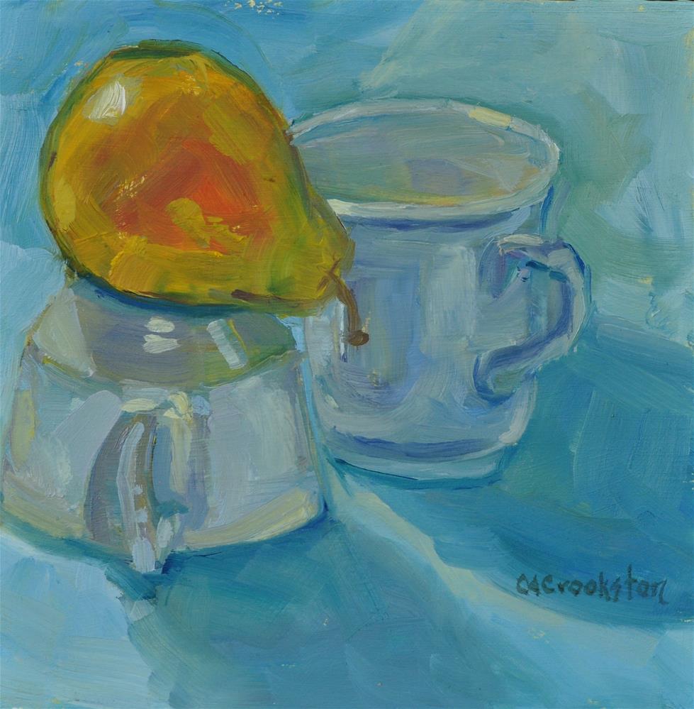 """Pear Balance"" original fine art by Catherine Crookston"