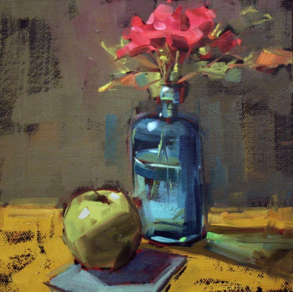 """Last Roses"" original fine art by Cathleen Rehfeld"