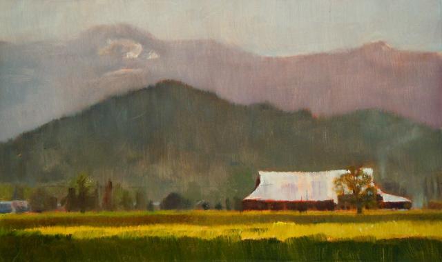 """""""Daffodil Farm Skagit county tulip fields."""" original fine art by Robin Weiss"""