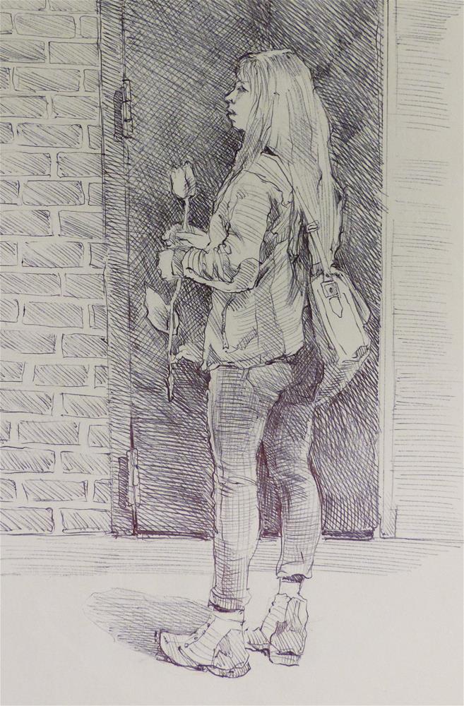"""500Faces-95"" original fine art by Katya Minkina"