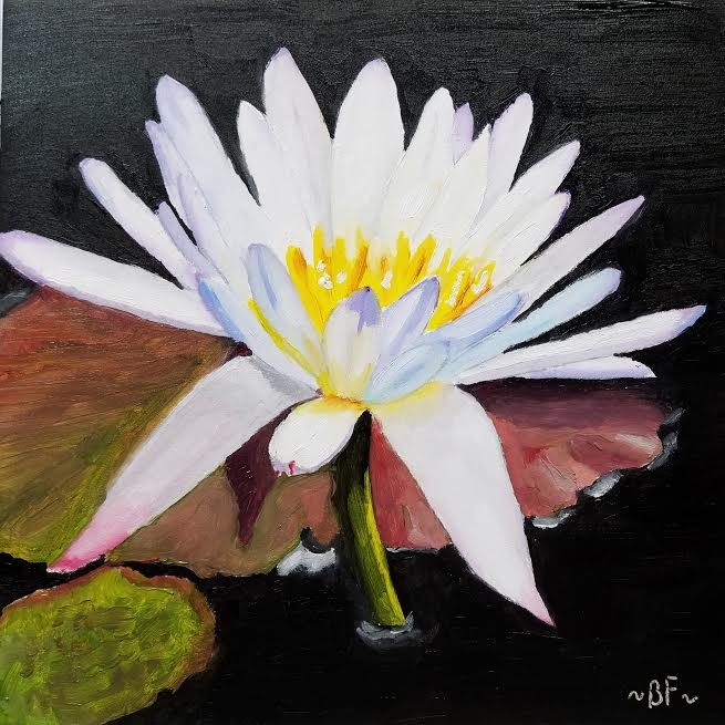 """White Lily"" original fine art by Betty Felenchak"