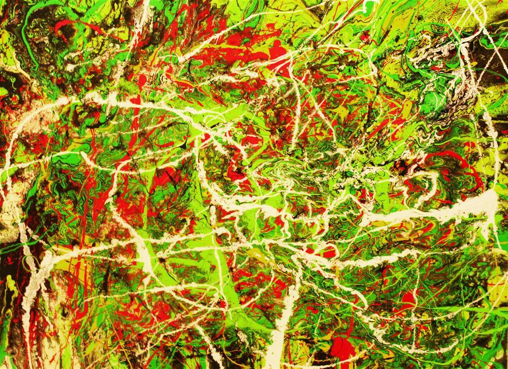"""Energy,original painting acrylic on canvas"" original fine art by Khrystyna Kozyuk"