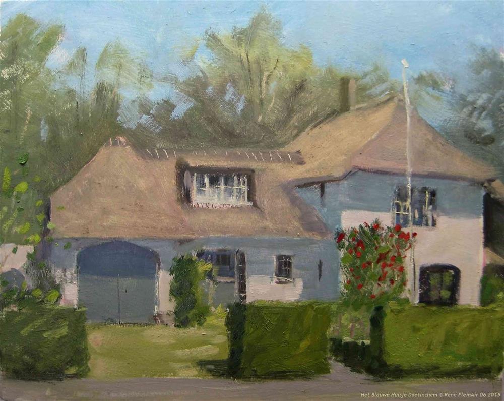 """Little blue house. Doetinchem, the Netherlands"" original fine art by René PleinAir"