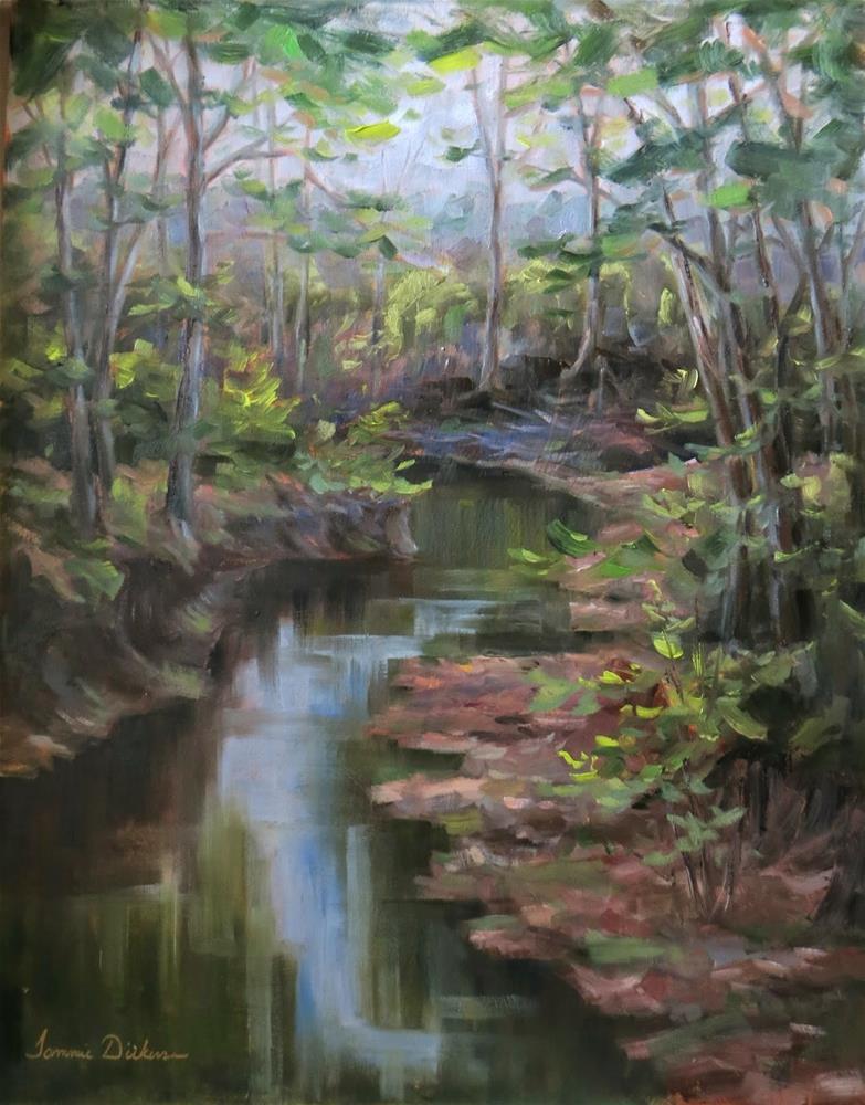 """""""Winding Creek"""" original fine art by Tammie Dickerson"""