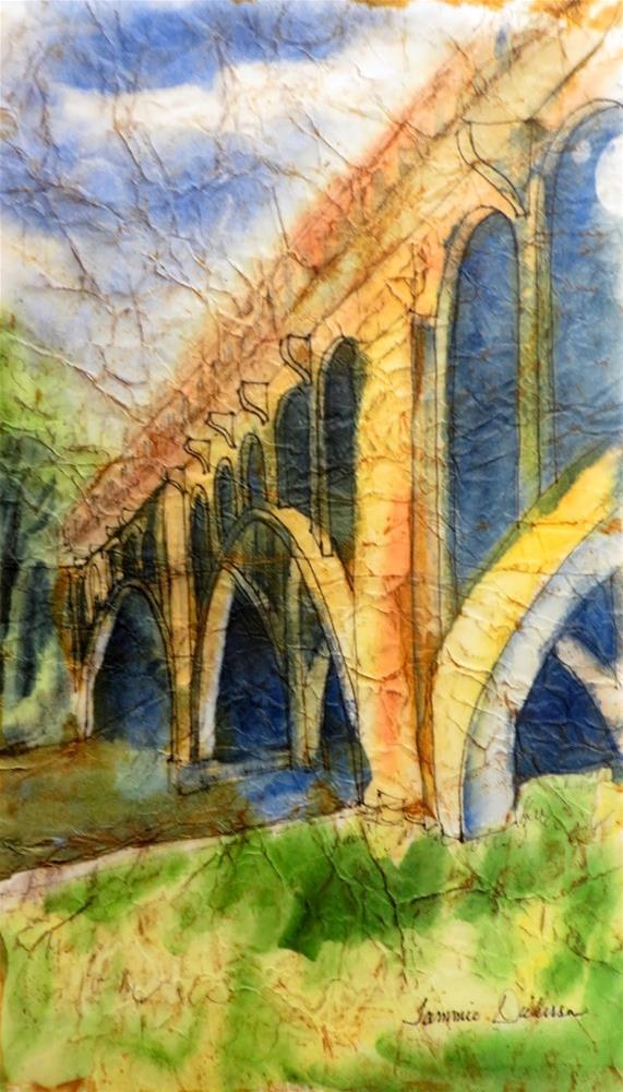 """""""Benton Bridge in Batik"""" original fine art by Tammie Dickerson"""