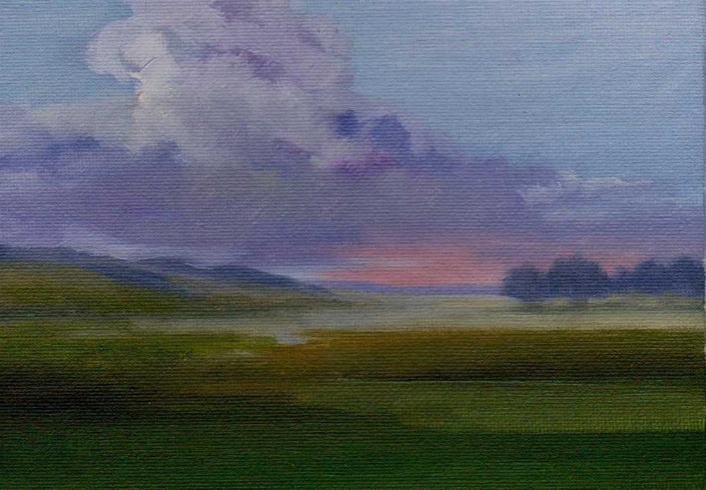"""soon rain"" original fine art by Mark DeBak"