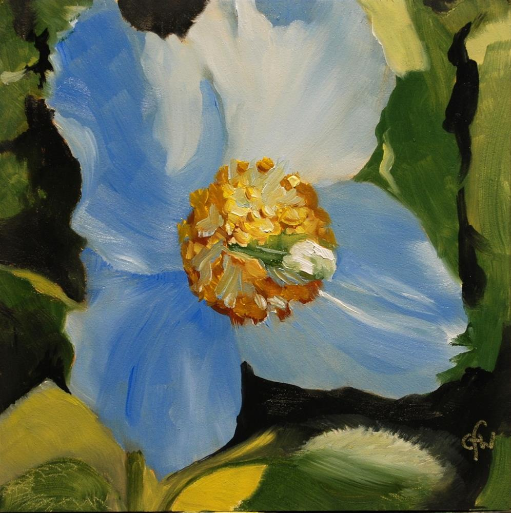 """Blue Poppy"" original fine art by Gary Westlake"