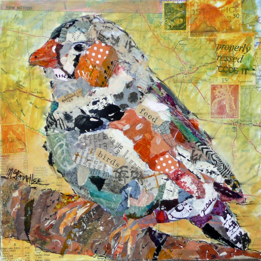 """Feed the Birds 11048  SOLD"" original fine art by Nancy Standlee"