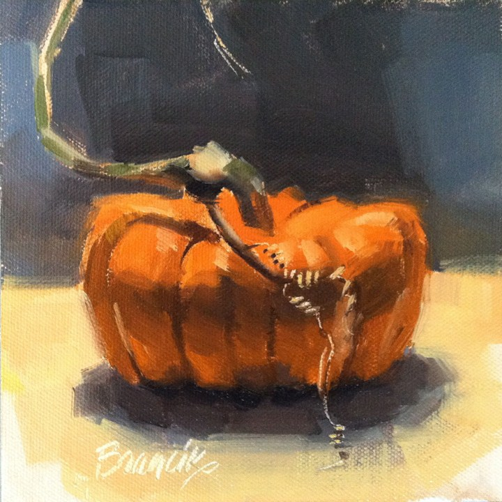 """Scary Little Pumpkin"" original fine art by Candace Brancik"