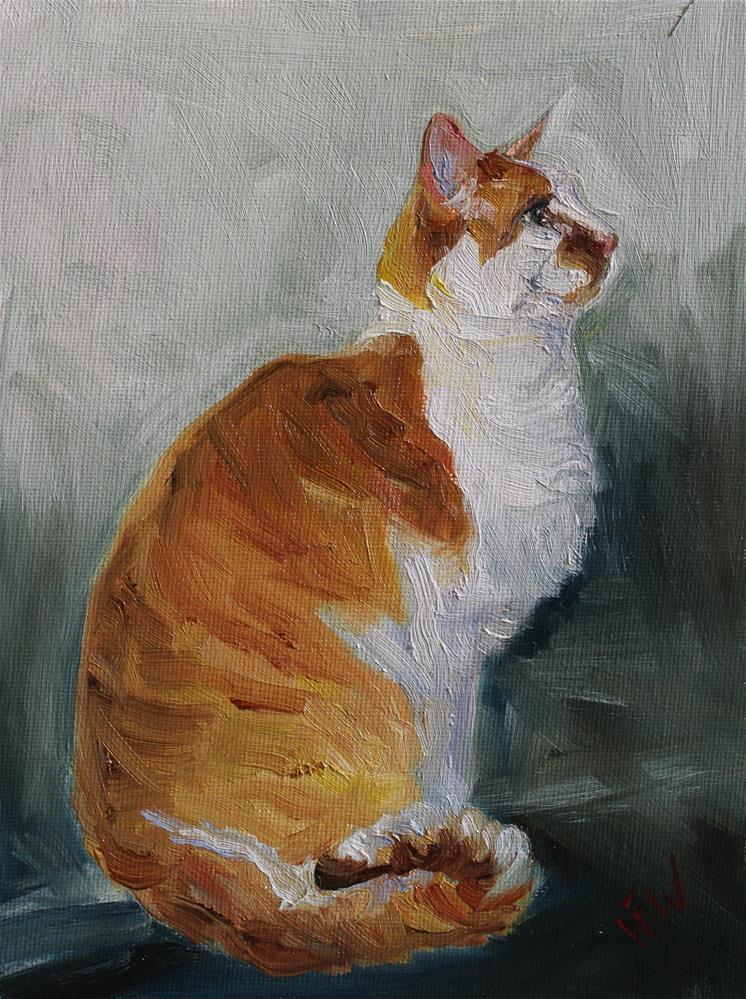 """""""Joey the Cat"""" original fine art by H.F. Wallen"""