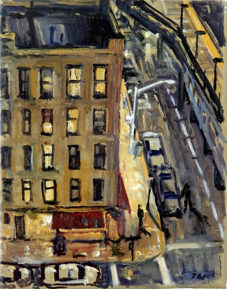 """New York Nocturne"" original fine art by Thor Wickstrom"