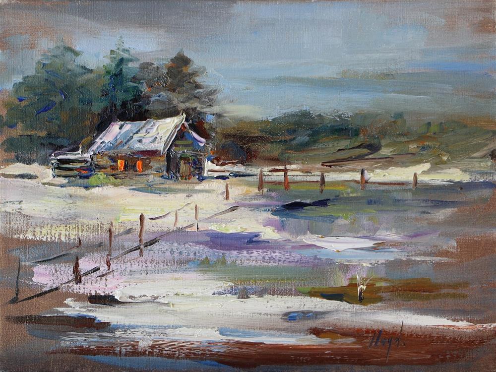 """Snow Melt"" original fine art by Diane Lloyd"