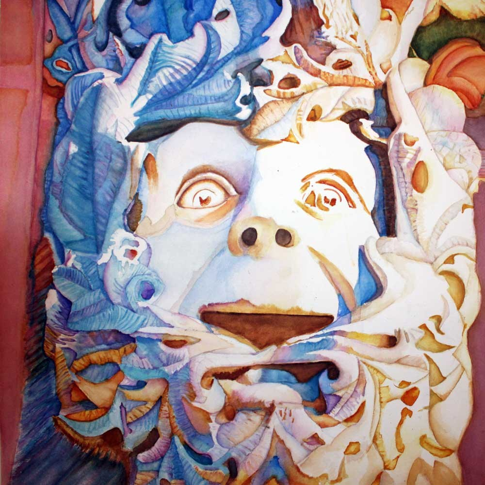 """Angus, the Green Man"" original fine art by Christiane Kingsley"