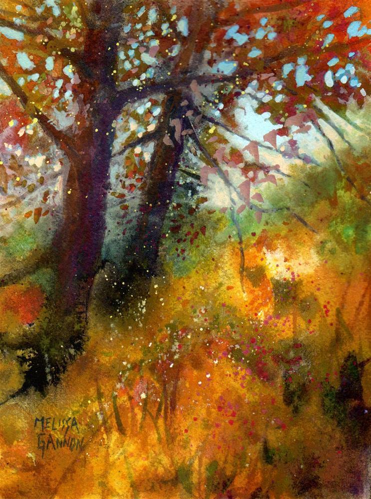 """Trees & Grasses"" original fine art by Melissa Gannon"