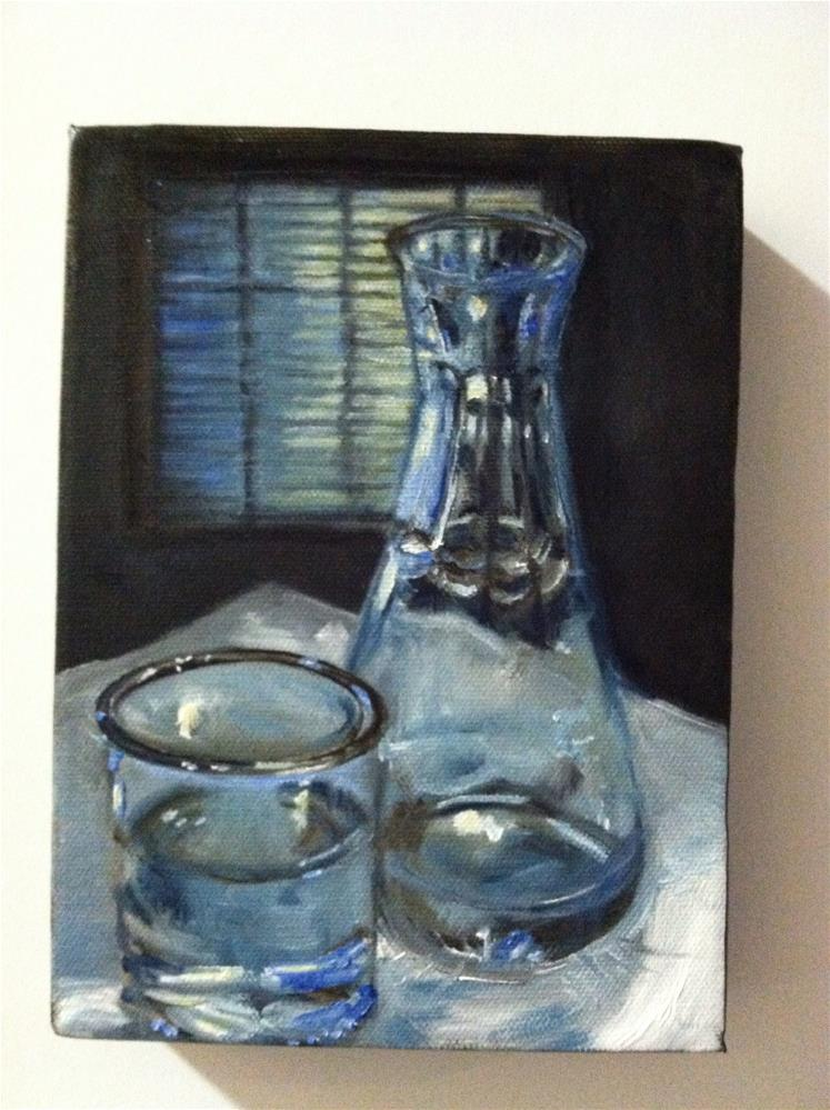 """Study of Glass"" original fine art by Nancy Levinson"