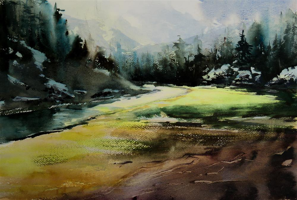 """""""Ötscher Nature Park"""" original fine art by Christa Friedl"""