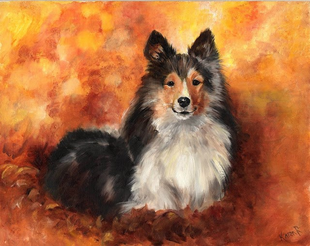 """Enjoying Autumn"" original fine art by Karen Robinson"