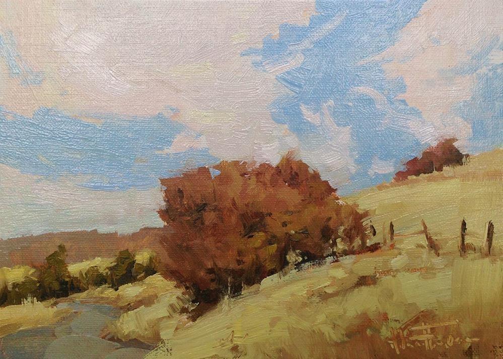 """Country Road"" original fine art by Melanie Thompson"
