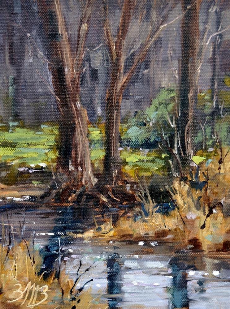 """Marsh Creek"" original fine art by Brienne M Brown"