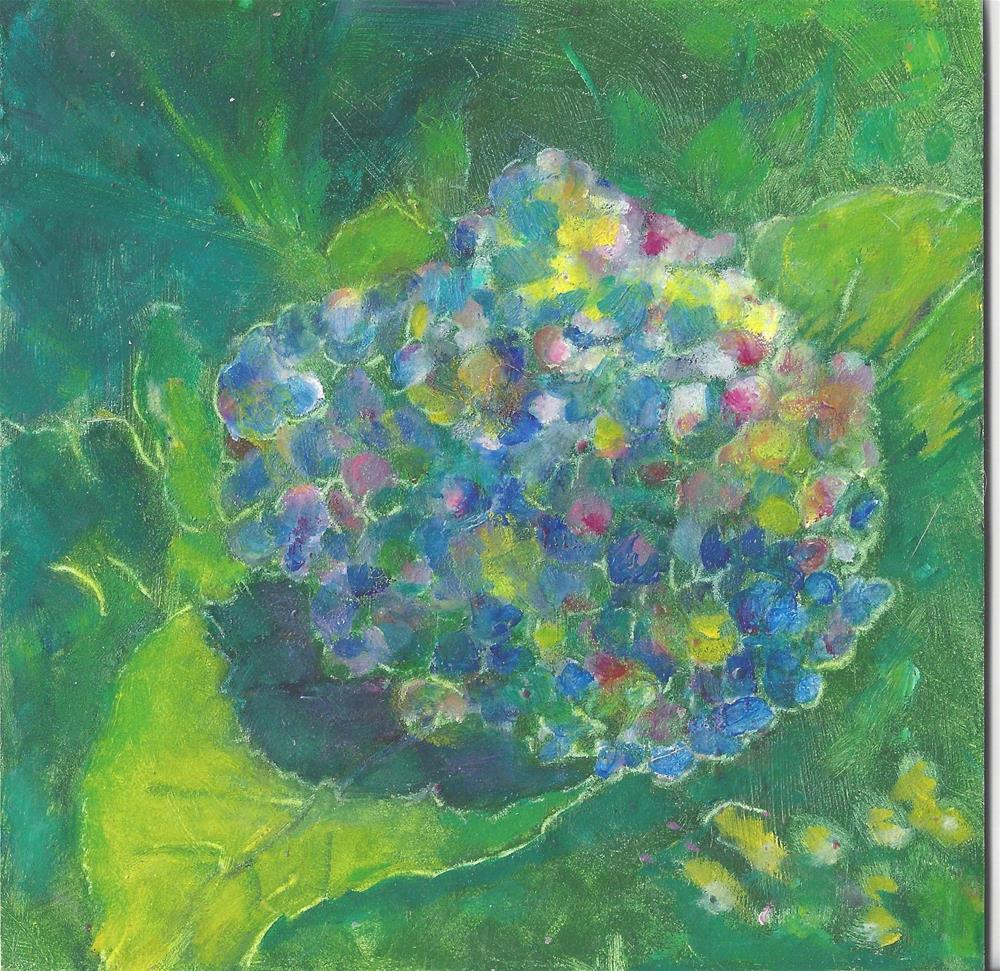 """Hydrangea"" original fine art by Elizabeth Current"