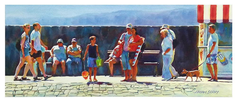 """Boy with the green bucket."" original fine art by Graham Berry"