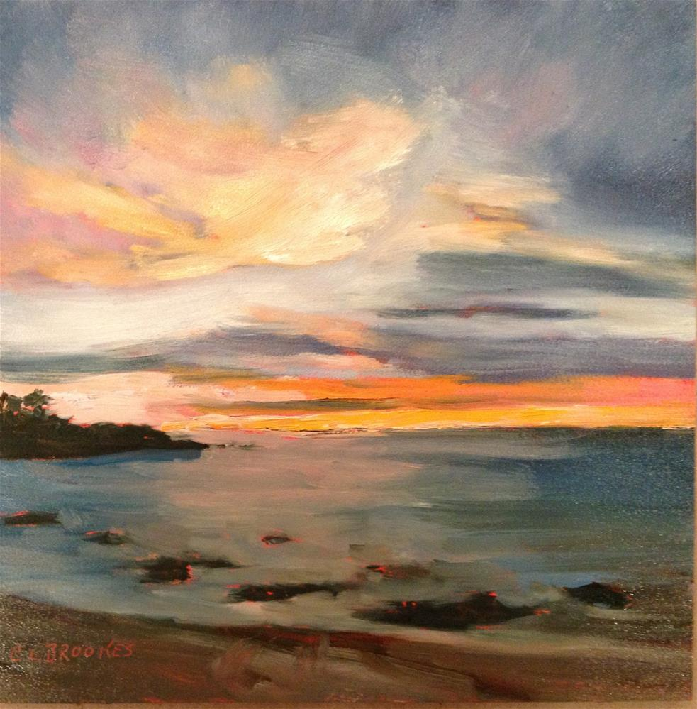 """""""Mainely Sky"""" original fine art by Claudia L Brookes"""