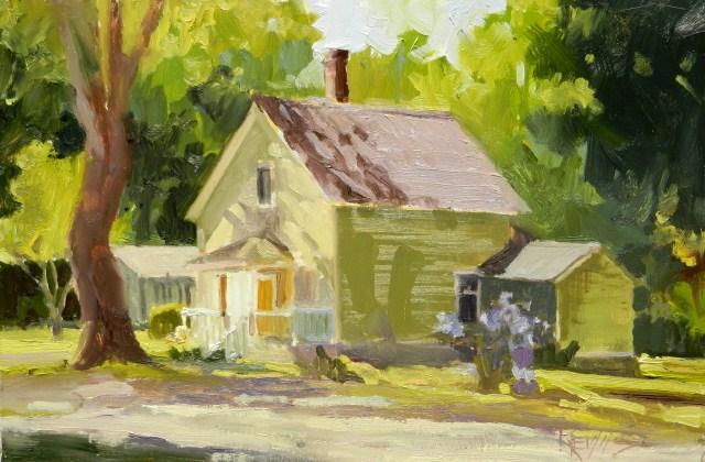 """Port Gamble House 1 plein air oil painting by Robin Weiss"" original fine art by Robin Weiss"