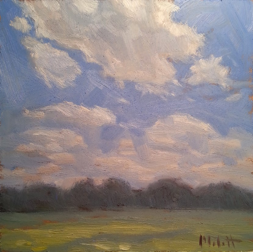 """Landscape Oil Painting Peaceful Day"" original fine art by Heidi Malott"