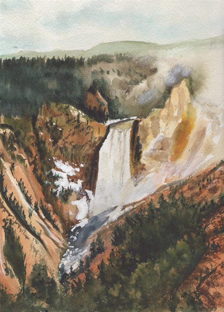 """""""Grand Canyon of Yellowstone"""" original fine art by Bunny Griffeth"""