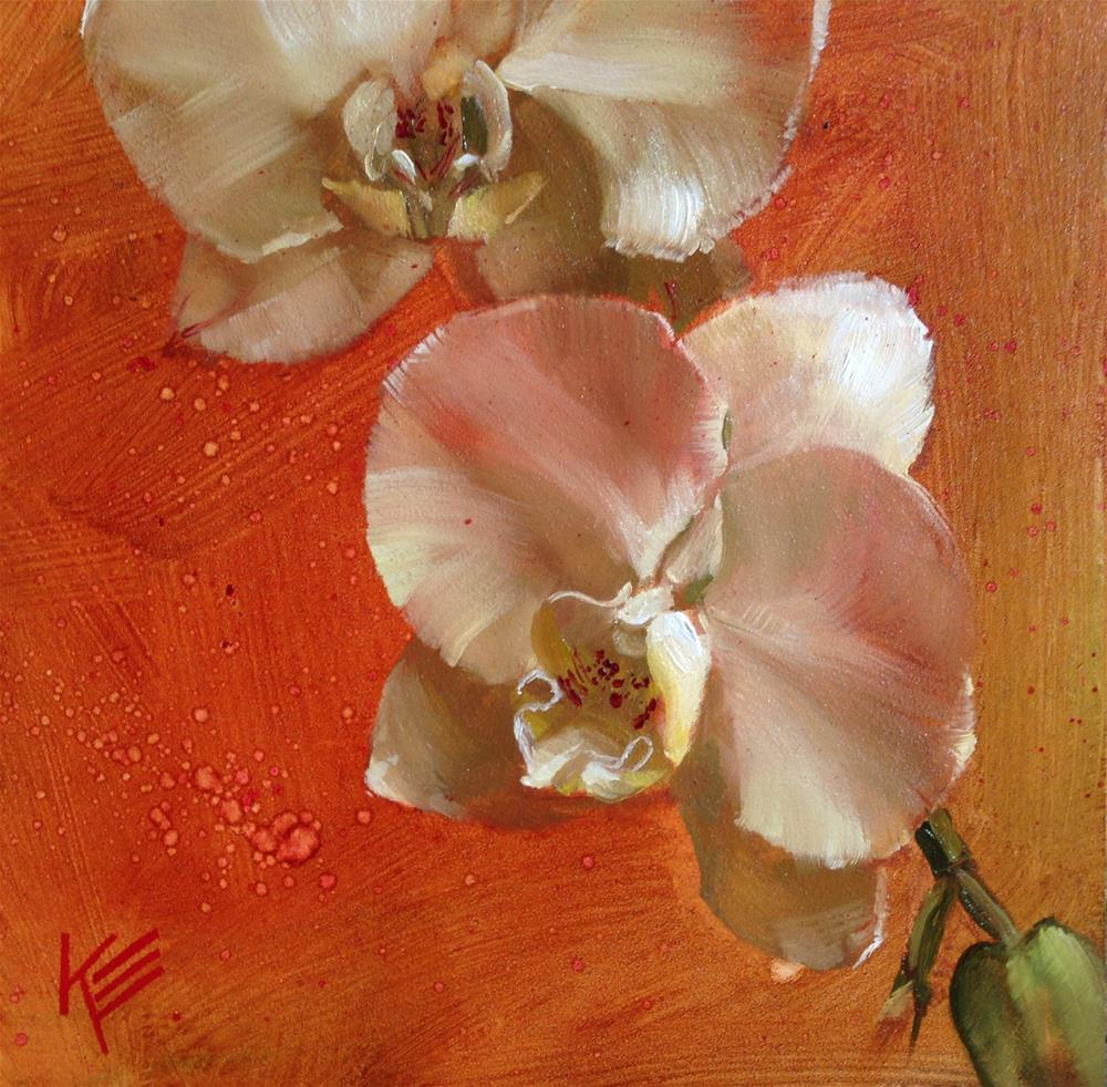 """Orchid"" original fine art by Krista Eaton"