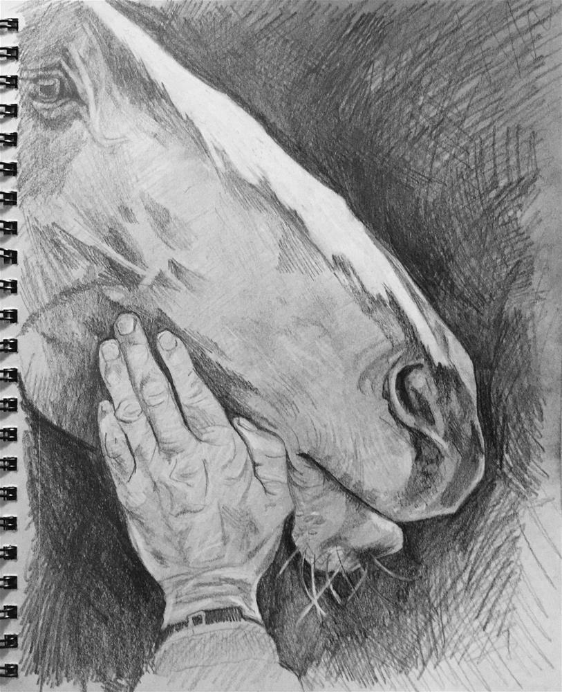 """The Visitor"" original fine art by Lauren Kuhn"