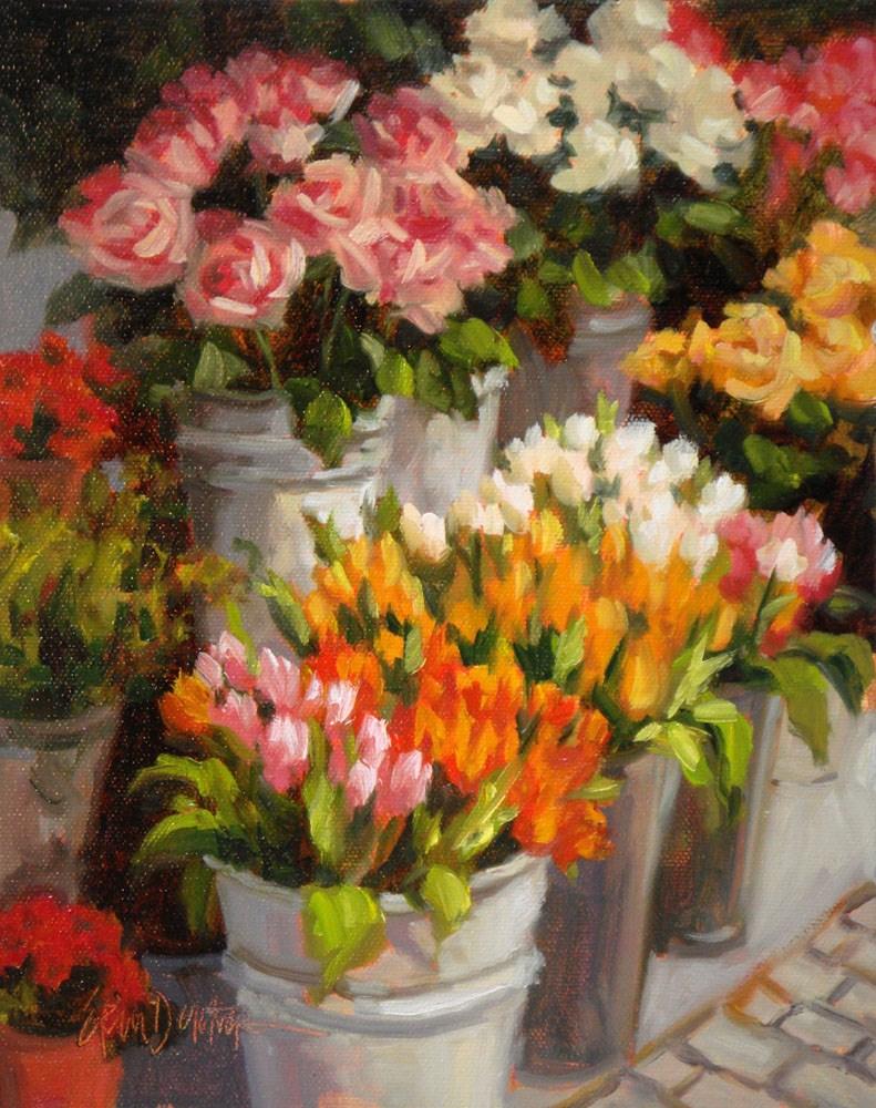 """Bountiful Buckets"" original fine art by Erin Dertner"