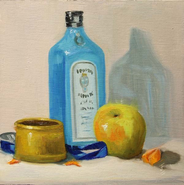 """""""Apple, Gin and more"""" original fine art by Jane Frederick"""