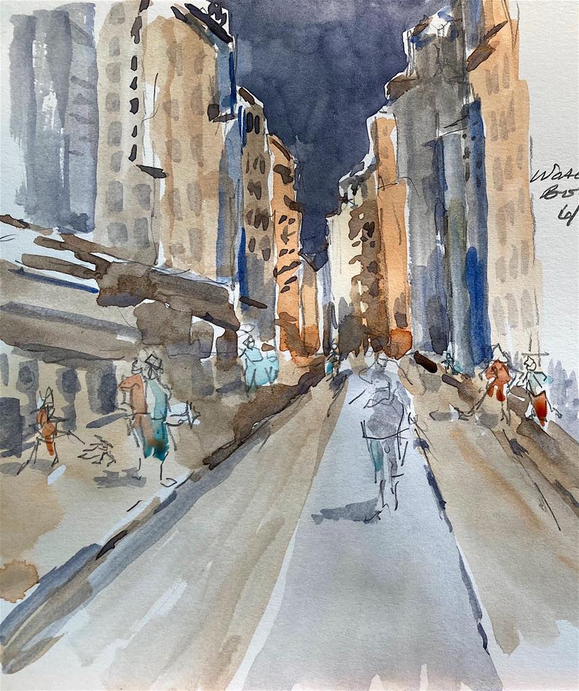 """""""Exercise in Perspective"""" original fine art by Judith Freeman Clark"""