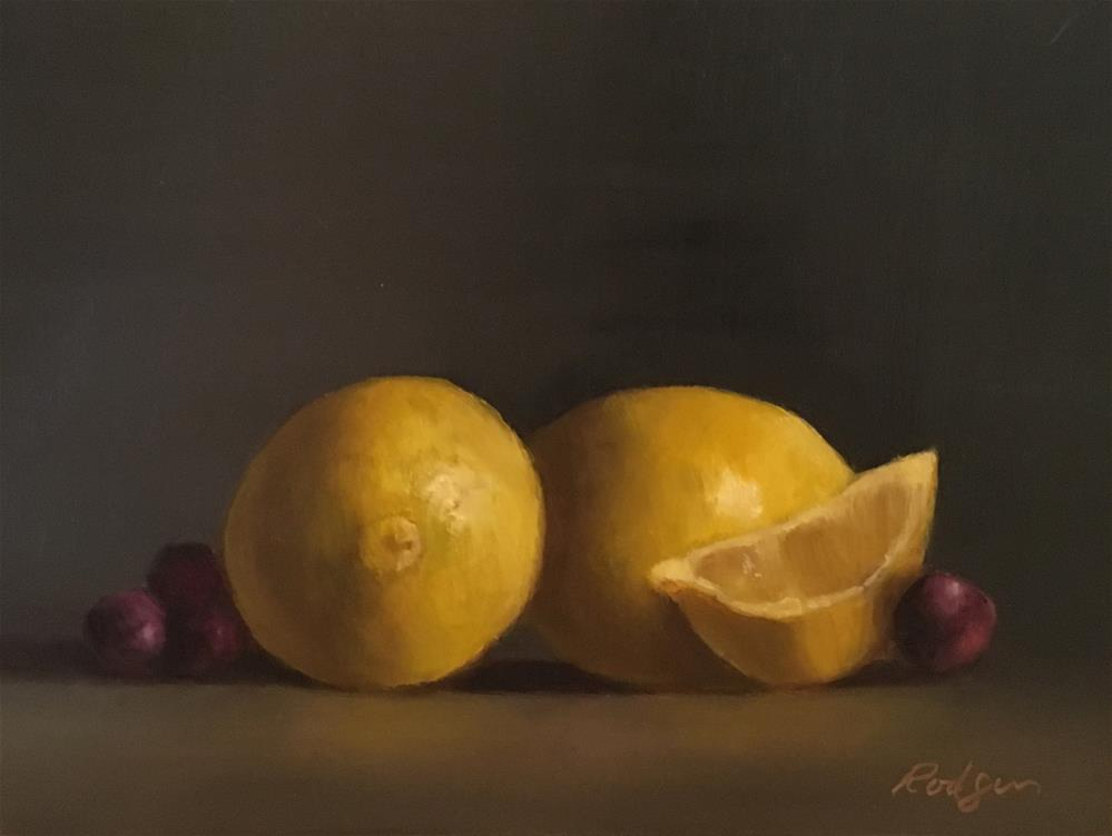 """Lemons and Grapes"" original fine art by Juli Rodgers"