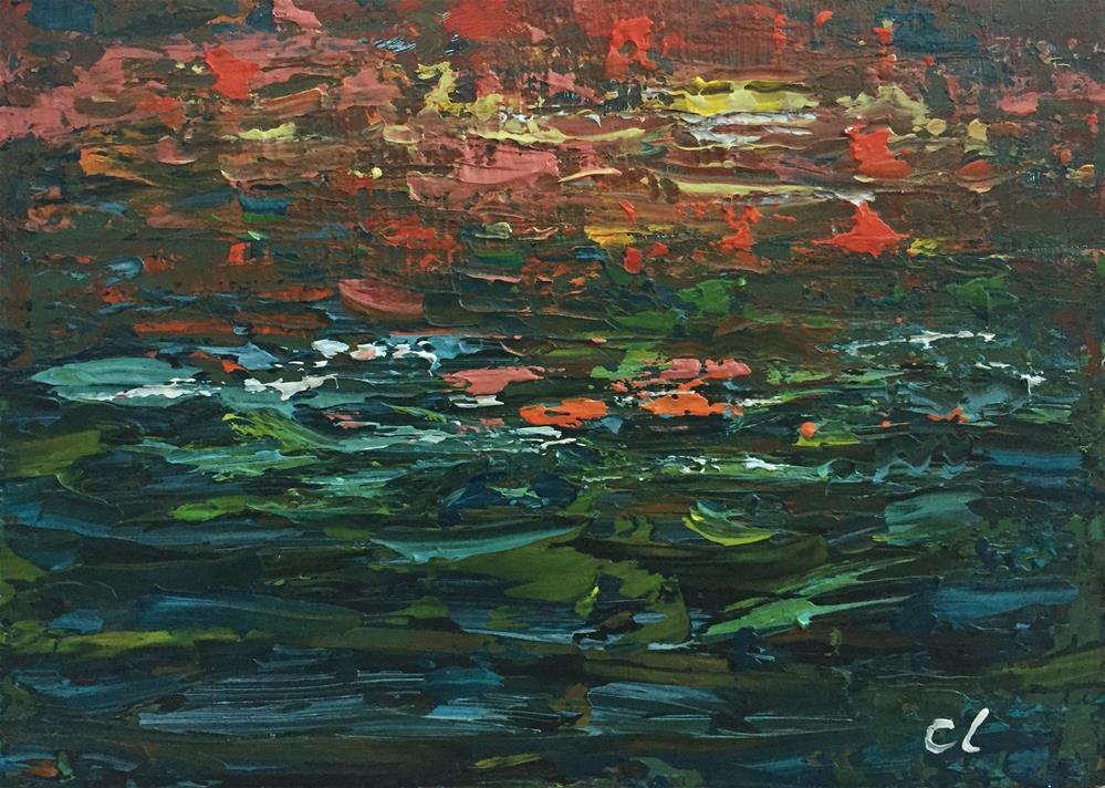 """""""Fall Waters"""" original fine art by Cheree Apalona Lueck"""