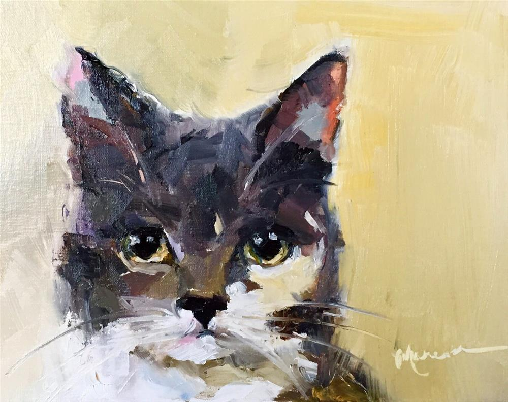 """Cat Woman"" original fine art by Marcia Hodges"