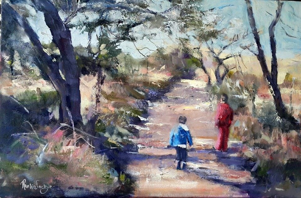 """Bushveld scene"" original fine art by Rentia Coetzee"