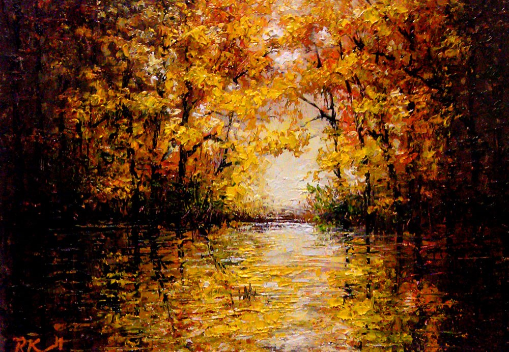 """""""Reflections in the Lake"""" original fine art by Bob Kimball"""