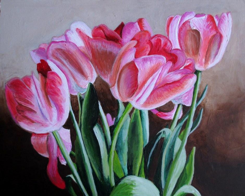 """Spring Tulips"" original fine art by Lisa Wiertel"