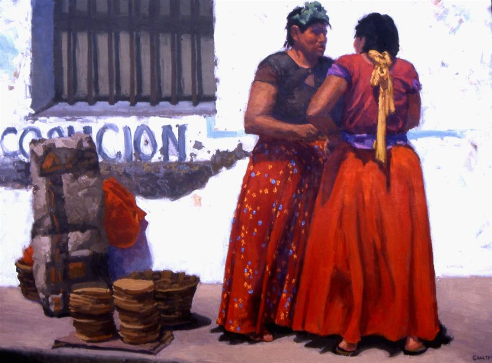 """TORTILLA SELLERS"" original fine art by James Coulter"