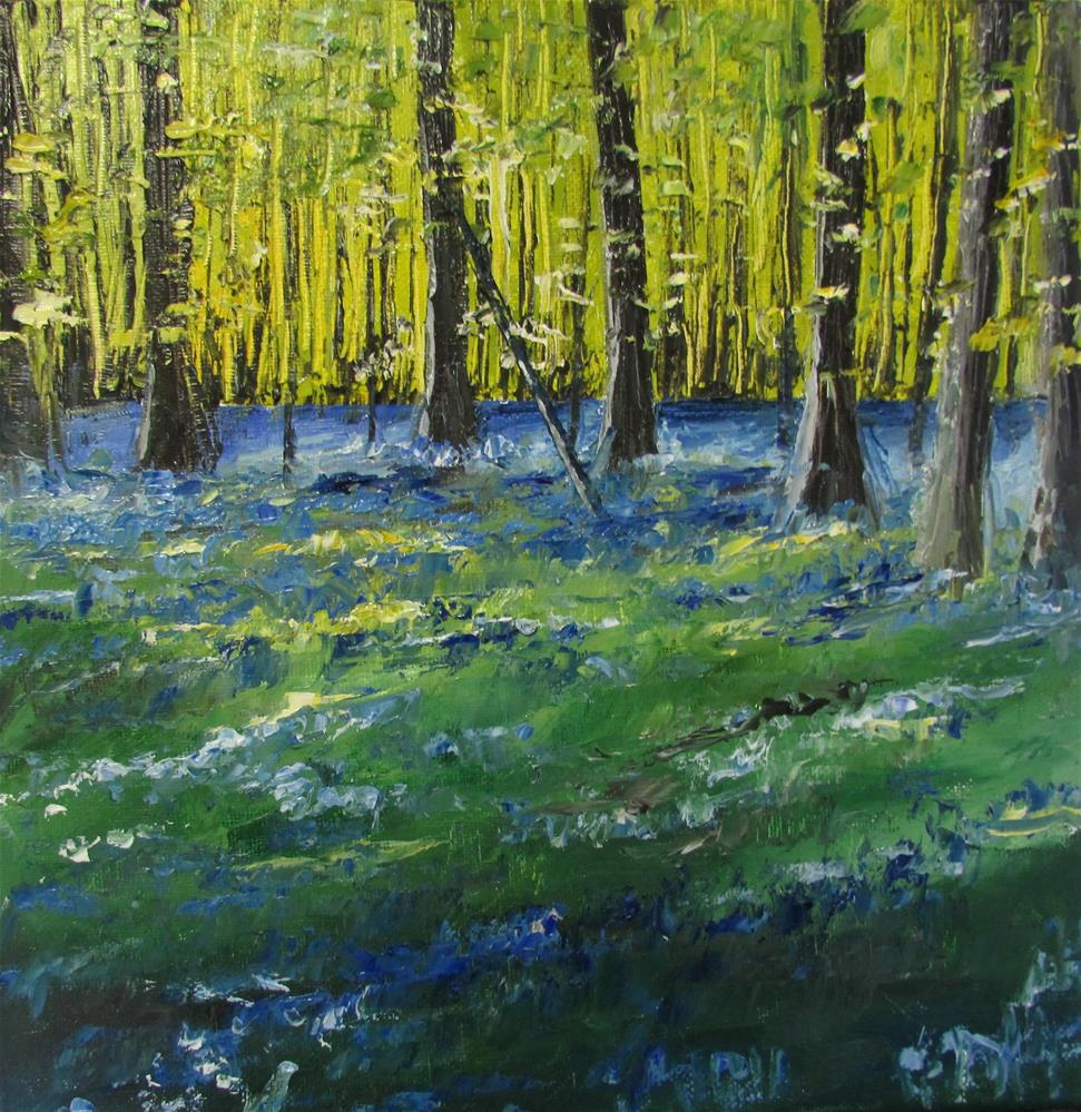 """12 x 12 inch oil Forest of Bell Flowers"" original fine art by Linda Yurgensen"