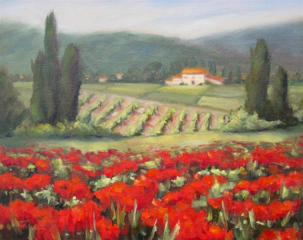 """""""Painting in Tuscany"""" original fine art by Pat Fiorello"""