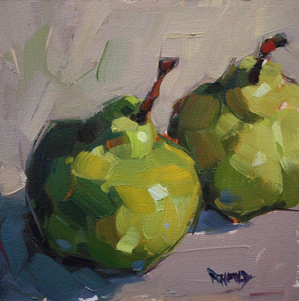 """A Pair of Pears"" original fine art by Cathleen Rehfeld"
